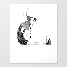 donkey girl Canvas Print