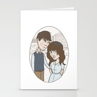 500 days of summer Stationery Cards featuring 500 days of summer portrait. by Nic Lawson