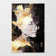 Typo face Canvas Print