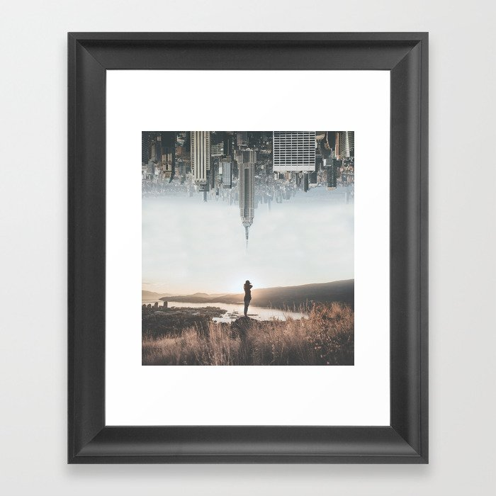 Between Earth & City Framed Art Print