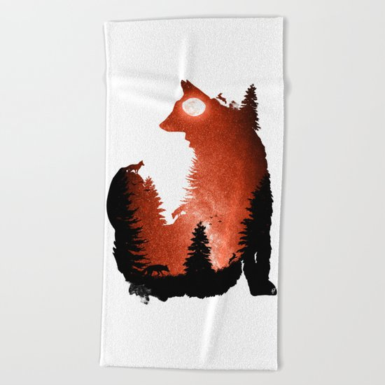 In the Swaying Forest Trees Beach Towel