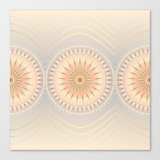 Gold Mandalas Canvas Print