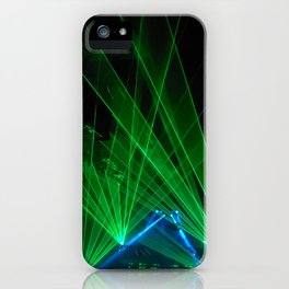 Green Tron Light Vibes iPhone Case