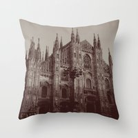 milan Throw Pillows featuring Milan Duomo, Milan by Albert Tjandra