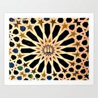 Azulejo de La Alhambra Art Print
