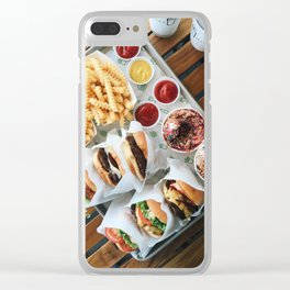 Shake Shack Burgers Clear iPhone Case
