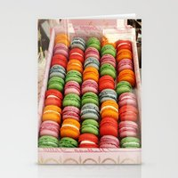 macaroons Stationery Cards featuring Macaroons by Mia Kellman