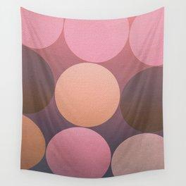 Pink Shadows Moon Wall Tapestry
