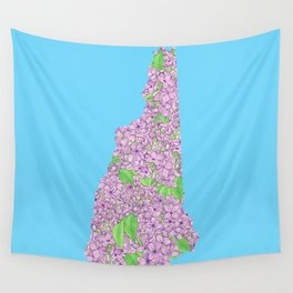 New Hampshire in Flowers Wall Tapestry