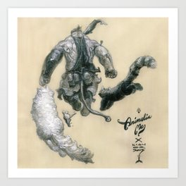 Animalia Me Art Print