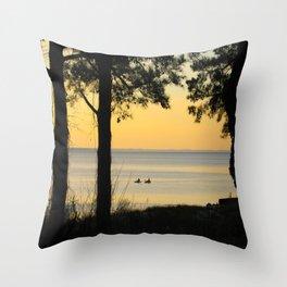 Go Kayaking Throw Pillow