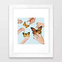 Social Butterflies Framed Art Print