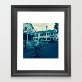 Whaling Houses Framed Art Print