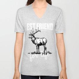 Best Friends For Life - Elk For Everyone Unisex V-Neck