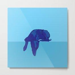 Blue/Grey hound Metal Print