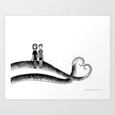 Addams ❤️ Gorey Art Print