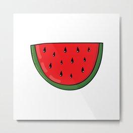 Colorful hand drawn juicy watermelon Metal Print
