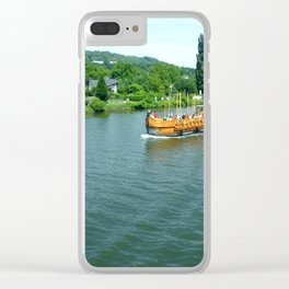 Ship on the River Clear iPhone Case