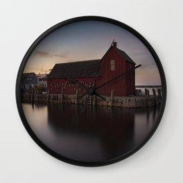 Motif #1 after sunset Wall Clock