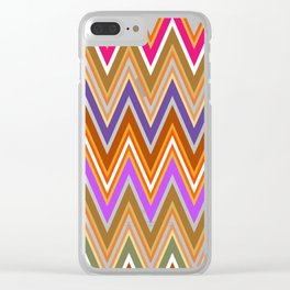 Retro Sawtooth 2 Clear iPhone Case