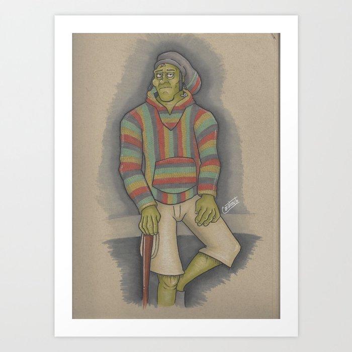 RastaFrankian Art Print