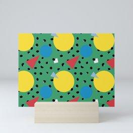 Leopard Geo Mix Pattern Multi Color Print - Green Mini Art Print