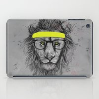 hipster iPad Cases featuring hipster lion by Balazs Solti