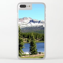 Little Molas Lake with Snowdon Peak Clear iPhone Case
