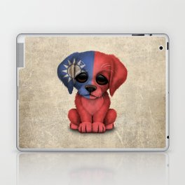 Cute Puppy Dog with flag of Taiwan Laptop & iPad Skin