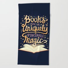 Books are magic Beach Towel