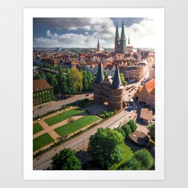 Germany's Medieval city - Lubeck Art Print