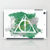 slytherin iPad Cases featuring The Deathly Hallows (Slytherin) by FictionTea