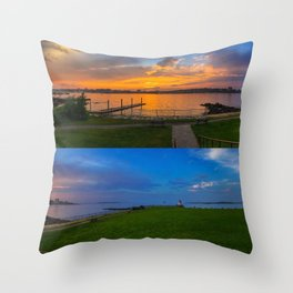 July Sunset at Bug Light (5) Throw Pillow