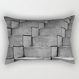 Concrete Thoughts on Concrete Steps Rectangular Pillow