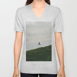 MAN - RUNNING - DOWNHILL Unisex V-Neck
