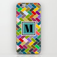 monogram iPhone & iPod Skins featuring M Monogram by mailboxdisco