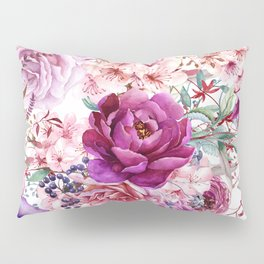 Roses and Peonies Collage Pillow Sham