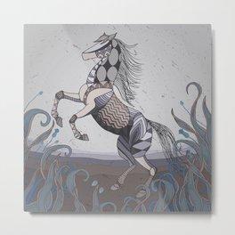 Horse geo.010 Metal Print