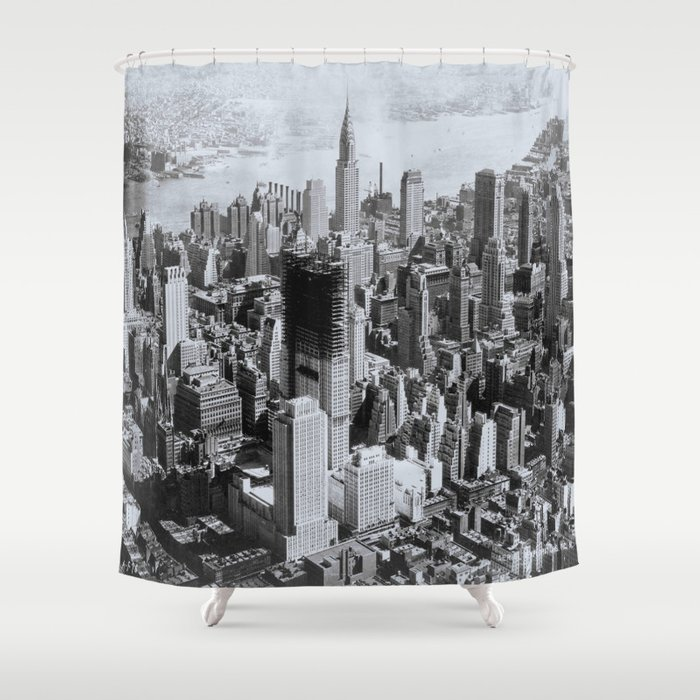 Vintage New York City Shower Curtain