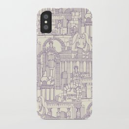 Ancient Greece purple pearl iPhone Case