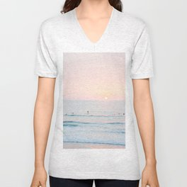 sunset surf session Unisex V-Neck