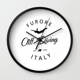 Cliff Jumping Shirt Italy Cliff Diver TShirt Furore Cliff Diving T Shirt Wall Clock