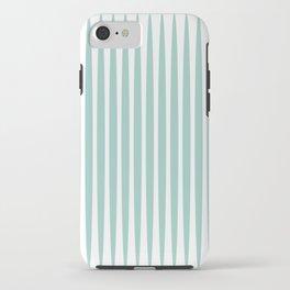 Soft green stripes iPhone Case