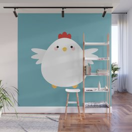 White Chicken Wall Mural