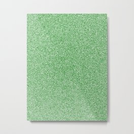 Melange - White and Green Metal Print