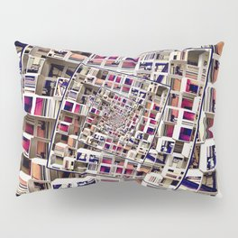 White House With Spinning 3D Cubes Pillow Sham