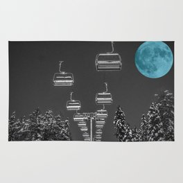 Chair Lift to the Teal Moon Rug