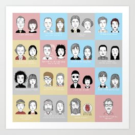 Sad Movie Couples Art Print
