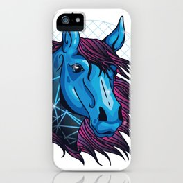 neon horse  iPhone Case