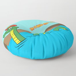 Nesie (Loch Ness Monster) Floor Pillow